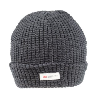 Wholesale ladies ribbed thinsulate ski hat in black