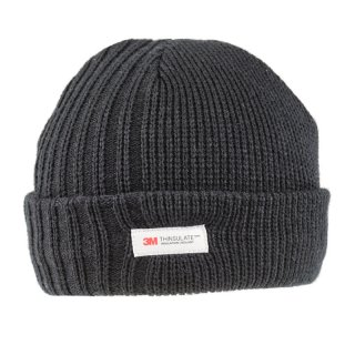 Black mens thinsulate ski hat available for wholesale purchase