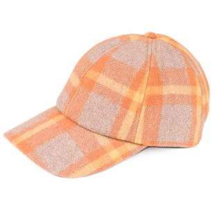 Wholesale unisex tan checks baseball caps