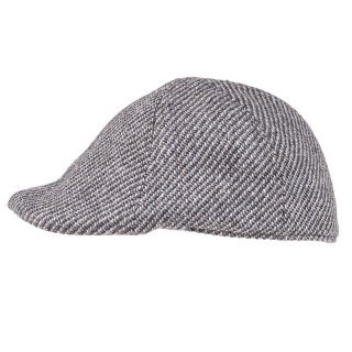 Wholesale mens preformed peak pattern cap in grey