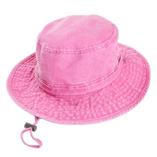 Wholesale ladies washed aussie style hat in pink