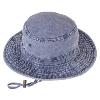 Wholesale mens washed aussie style hat in navy
