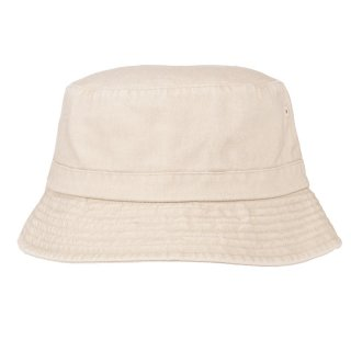 Wholesale ladies washed bucket hat in beige