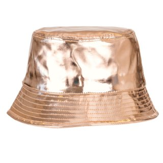 Wholesale adults unisex holographic bucket hat in gold
