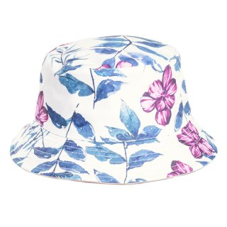 Wholesale ladies floral pattern bucket hat in dark colours