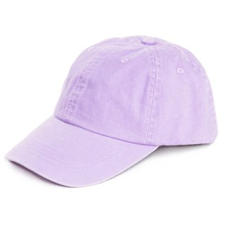 Wholesale ladies plain washed baseball cap in purple developed from cotton