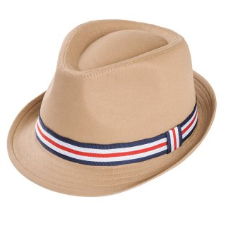 Wholesale mens trilby hat in beige developed from cotton