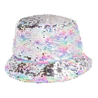 Wholesale adults flipable rainbow patterened sequin bush hat