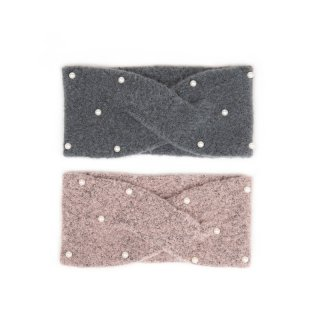 A1613- LADIES PEARL KNITTED HEADBAND