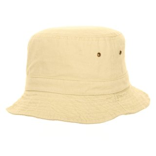 Wholesale relaxed bush hat with eyelets and washed look