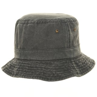 Wholesale relaxed bush hat with eyelets and denim washed look