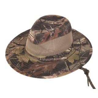 Wholesale mens forest camo fedora with air vents