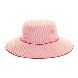 Wholesale reversible ladies bush hat with red stripes