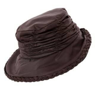 Wholesale wax hat with short back brim developed from cotton and polyester