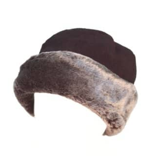 Wholesale womens faux fur fleece hat