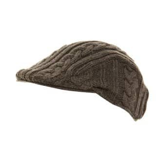 A310 - WHOLESALE MEN'S CABLE KNIT FLAT CAP