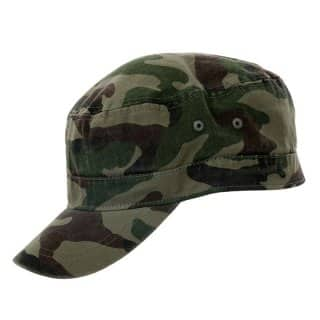 Wholesale green camoflage fitted cadet cap