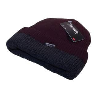 Wholesale Thinsulate two tone ribbed ski hat in black and grey