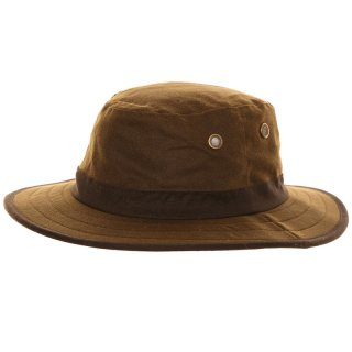 Wholesale wax wide brim bush hat in unisex sizes