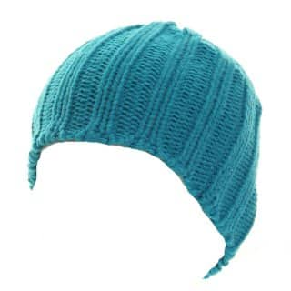 A432 - WHOLESALE LADIES SPARKLY CHUNKY RIBBED KNITTED HAT