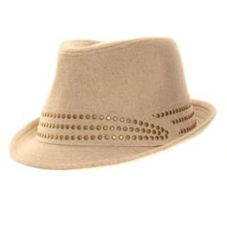 A435 - WHOLESALE LADIES MELTON WOOL TRILBY