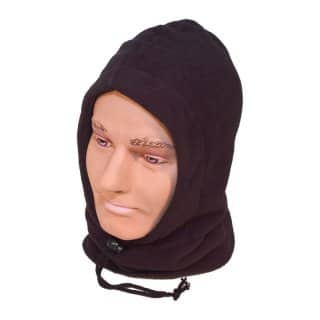 Wholesale Fleece hood with balaclava in black