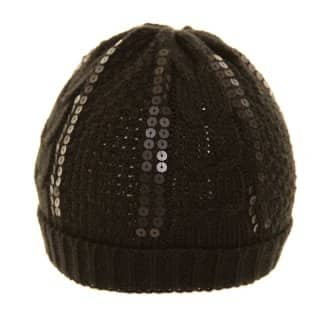 Wholesale black ladies sequin ski hat