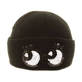 A611 - LADIES NOVELTY SEQUIN 'EYES' SKI HAT