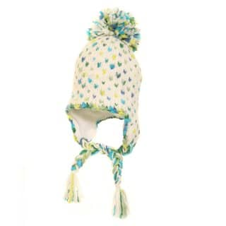 Wholesale ladies green chunky knit spotter peru hat