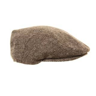 Bulk flat cap with assorted herringbone tweed designs