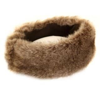A622 - LADIES FAUX FUR HEADBAND WITH HIDDEN ELASTIC