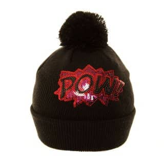 A626 - LADIES SEQUIN SLOGAN SKI HAT