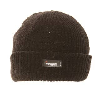 A649/B - Ladies soft chenille ski hat with fleece lining in black