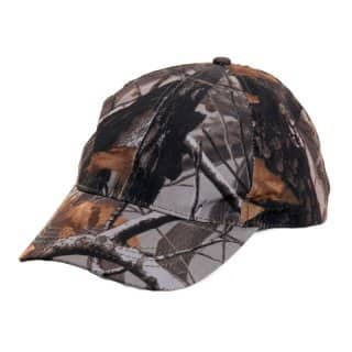 Wholesale woodland camo baseball cap from the front