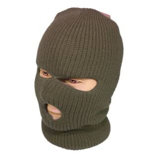 Wholesale olive 3 hole SAS balaclava