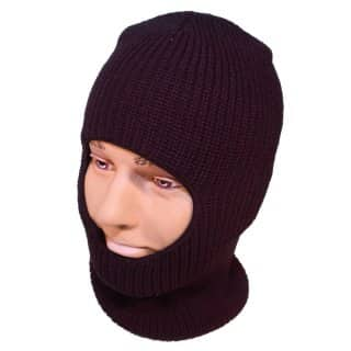 BLACK OPEN FACE BALACLAVA