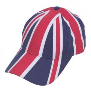 Wholesale Union Jack printed baseball cap