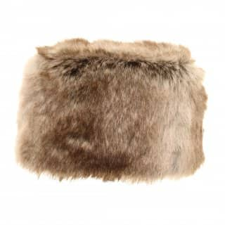 Wholesale womens faux fur pill box hat in brown
