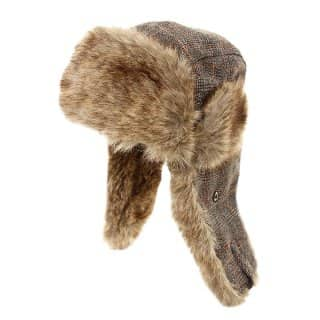 FUR TRIMMED TRAPPER HAT