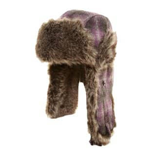 Wholesale womens subtle check trapper hat
