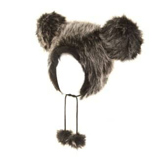 Wholesale adults fur novelty hat with giant ears in grey