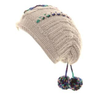 Wholesale womens chunky knit baggy beanie hat