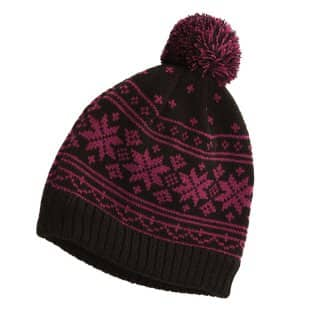 ADULTS' KNITTED SKI HAT