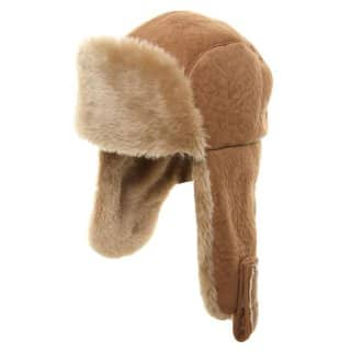 Wholesale adults unisex suede feel trapper hat