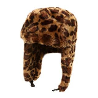 Wholesale assorted faux fur animal print trapper