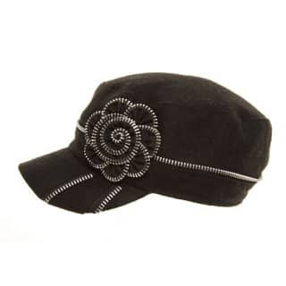 WOMEN'S BLACK CADET CAP