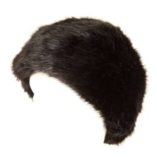 Wholesale faux fur cossack hat in black