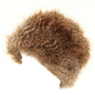 Wholesale brown long fur pillbox hat