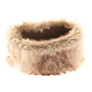 A925 - LADIES SOFT WIDE FAUX FUR HEADBANDS