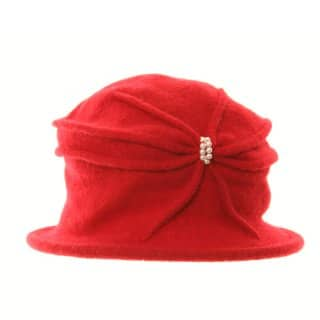 A929 - LADIES WOOL CLOCHE WITH BEAD DETAIL